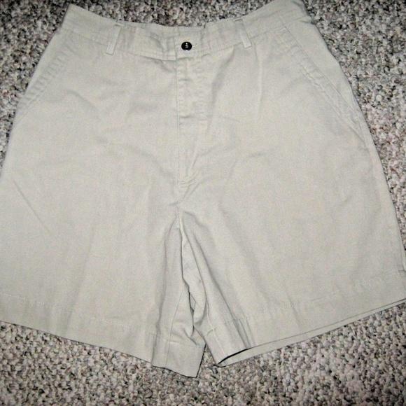 Studio Works Pants - Light Tan 3 Pocket Cotton Blend Walking Shorts 10
